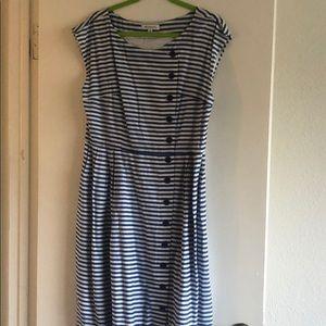 Emily and Fin Blue Striped Nancy Dress XL/UK 16